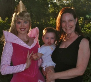 Meeting one of the omnipresent Disney princesses at age eighteen months.